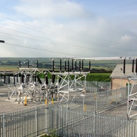 Compound of our 132kV substation in Cornwall
